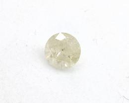 0.27ct Fancy Light Gray Yellow  Diamond , 100% Natural Untreated