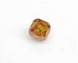 0.25ct  Fancy Intense Orange Diamond , 100% Natural Untreated