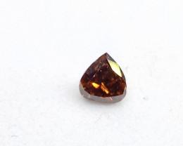 0.18ct Fancy Dark Red Brown  Diamond , 100% Natural Untreate