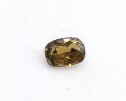 0.19ct Fancy Deep Green  Brown  Diamond , 100% Natural Untreate