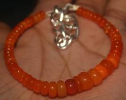 31 Crts Natural Welo Smoked (Orange)Opal Beads Bracelet 887