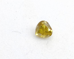 0.19ct Fancy Intense yellowish Green  Diamond , 100% Natural Untreate