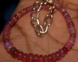 16 Crts Natural Welo Smoked Opal Beads Bracelet 873