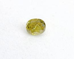 0.16ct  Fancy Intense yellowish Green  Diamond , 100% Natural Untreated
