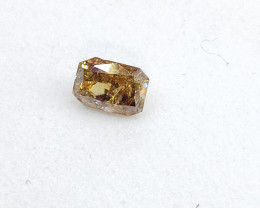 0.15ct Fancy Intense Brown Diamond , 100% Natural Untreated