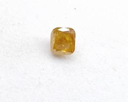 0.17ct Fancy Orange  Diamond , 100% Natural Untreated