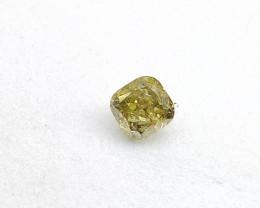 0.17ct Fancy grayish Green  Diamond , 100% Natural Untreated