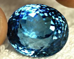 53.21 Carat Blue Brazilian VVS Topaz - Gorgeous