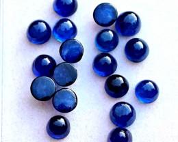 16.6 Tcw. Blue Sapphire Cabochons - Gorgeous