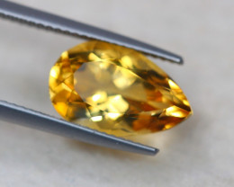 4.58ct Natural Yellow Citrine Pear Cut Lot V7783