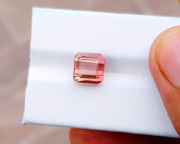 4 Ct Natural Pinkish Orange Transparent Tourmaline Gemstone