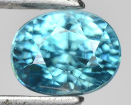 1.33 CTS BLUE ZIRCON NATURAL LOOSE GEMSTONE