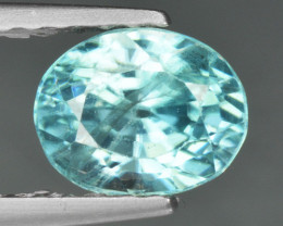 1.25 CTS BLUE ZIRCON NATURAL LOOSE GEMSTONE