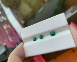 Beautiful 0.94 ct good lustre emeralds from Swat Valley