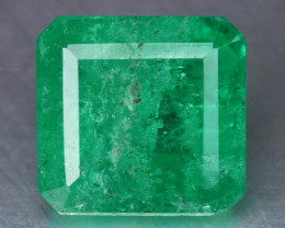 2.23 Cts NATURAL EARTH MINED GREEN COLOR COLOMBIAN EMERALD LOOSE GEMSTONE