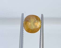 GFCO Certified 3.31 Carats Yellow  Sapphire Gemstones