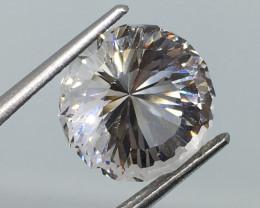 8.52 Carat VVS CERT. Danburite - Diamond White  Master Fantasy Cut Stunning