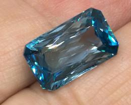8.49 Carat VVS Zircon Caribbean Blue Custom Master Cut Quality !