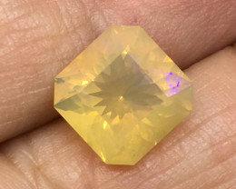 2.89 Carat Crystal Opal Lightning Ridge Master Cut Faceted Opal Rare !