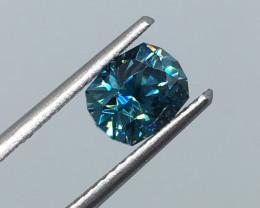 1.46 Carat VVS Zircon Caribbean Blue Master Cut Incredible Quality!