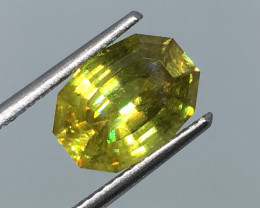 3.07 Carat Sphene Master Cut  Russian Beauty !