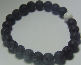 Beautiful  Lava beads cabs Bracelet