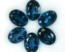 6.30 Cts Natural London Blue Topaz Oval 7 X 5 mm Parcel