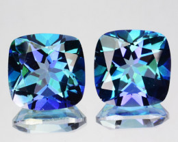 5.32 Cts Natural Mystic Blue Topaz 6 mm Cushion