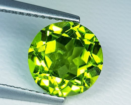 3.37 ct  Top Quality Gem  Excellent Round Cut Top Quality Peridot .