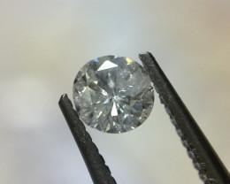 0.13 ct G I3 bluff round brilliant diamond