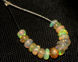 2.60 Crt Natural Ethiopian Welo Faceted Opal Demi Strand 4