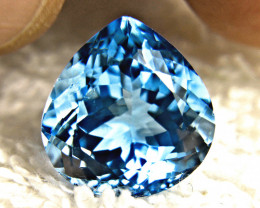 15.52 Carat Vibrant Blue VS Brazilian Topaz - Gorgeous