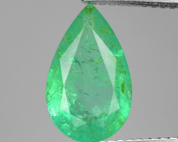 2.47 NATURAL EARTH MINED GREEN COLOR COLOMBIAN EMERALD LOOSE GEMSTONE