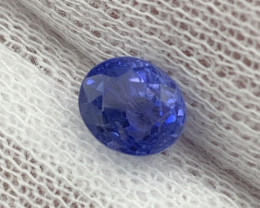 """""""GRA""""Certified 1.34Cts Unheated/Untreated Natural Blue Sapphire Top Quality"""