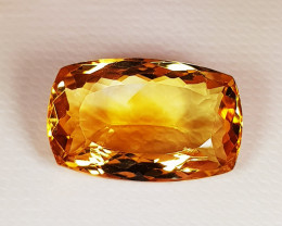 10.17 ct  Collective Gem Stunning Rectangle Cut Top Luster Citrine