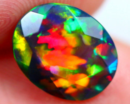 2.45cts Natural Ethiopian Smoked Faceted Welo Opal / JU502