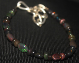 20 Crt Natural Ethiopian Welo Smoked Opal Beads & Nuggets Bracelet 928