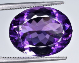 11.85 Crt Natural Amethyst Faceted Gemstone.( AB 04)