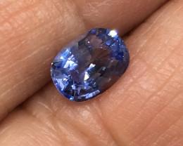 1.08 Carat VVS CERT. Sapphire Blue Ceylon Exquisite Quality!