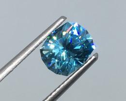 2.41 Carat VVS Zircon Caribbean Blue Master Cut Incredible Quality!