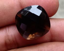 Smoky Quartz Checkered Natural+Untreated Gemstone VA2352