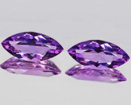 14x7 mm Marquise 2pcs 4.33cts Pinkish Purple Amethyst [VVS]
