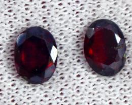 2.60 CT Natural - Unheated  Red Pink Garnet Gemstone pair