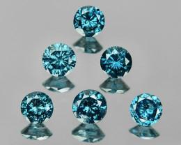 DIAMOND 0.50 Cts 6Pcs FANCY BLUE COLOR NATURAL