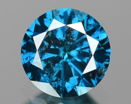 0.39 Cts SPARKLING RARE FANCY BLUE COLOR NATURAL DIAMOND