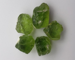 Peridot rough 37.50 carats