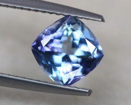 1.86ct Violet Blue Tanzanite Cushion Cut Lot V4993