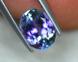 1.64ct Greenish Violet Blue Tanzanite Oval Cut Lot V4998