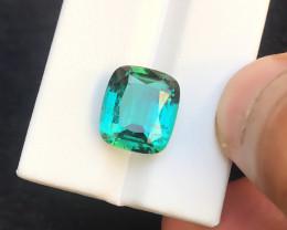 HGTL CERTIFIED 9.74 Ct Natural Greenish Blue Transparent Tourmaline Gemston