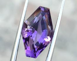 6.80 Ct Natural Purple Transparent Amethyst Gemstone